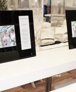 Black Glass Double Frame with Wedding Photo