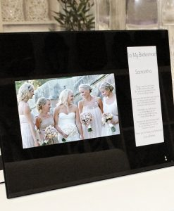 Black-glass-double-frame-bridesamaid