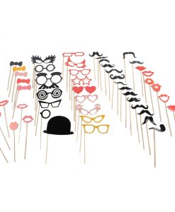 Party Props Cardboard Lips, Mous and Specs on Sticks