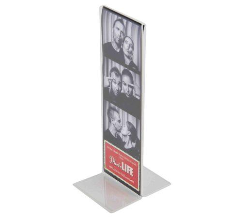 T Shape Acrylic Photo Strip Frame 2x6 Inch