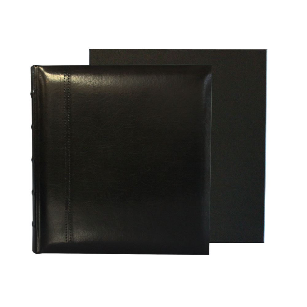 glorious leather dry mount 100 page photo album guest book