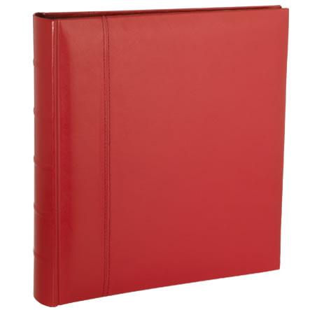 Red Leather Dry Mount Photo Album