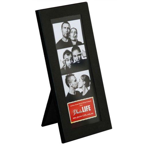 "Photo Strip Frame Black Glass 2x6"""