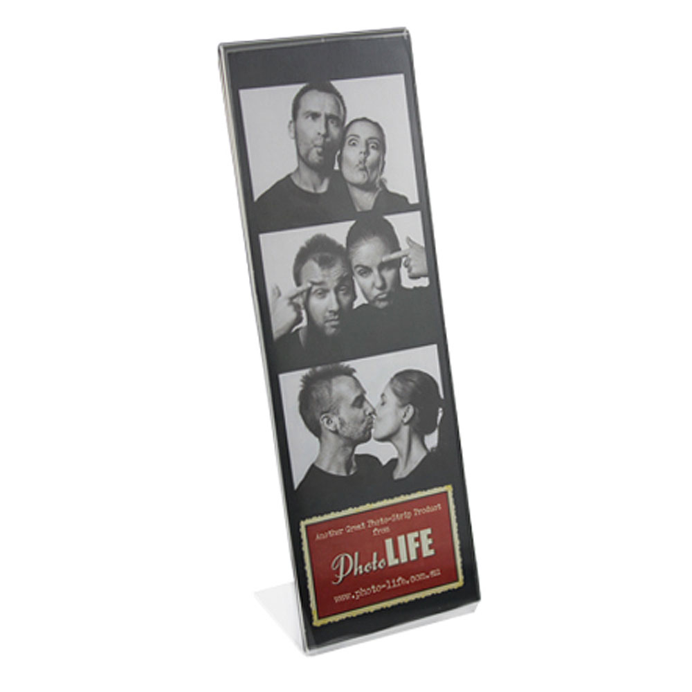 L Shape Acrylic Photostrip Frame 2x6 Coral Coast Photo Life