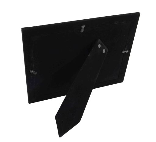 Back View Of Black Glass Double Frame