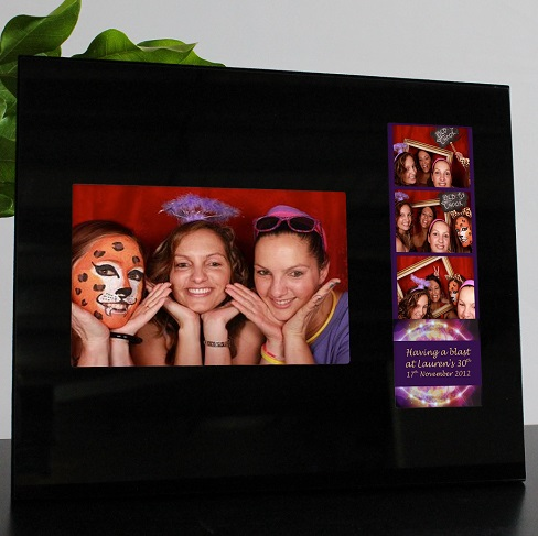 Black Glass Double Frame Photostrip