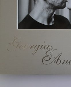 Engraving Frame Silver