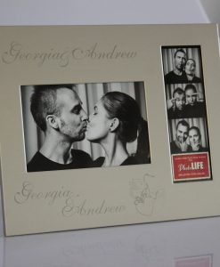 Engraving Frame Silver Photo