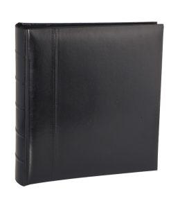 Black Leather Jumbo Album Dry Mount 100 Page