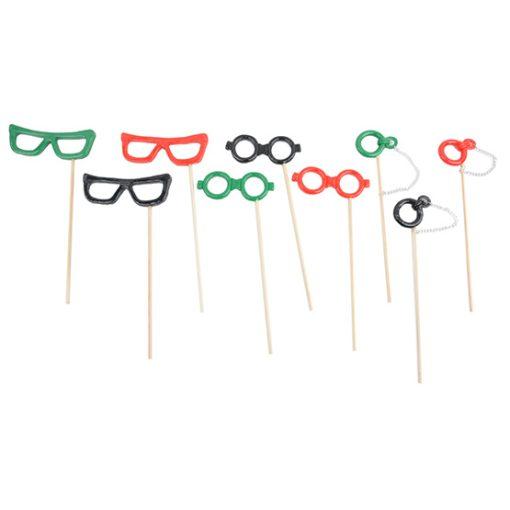 Photobooth Props Resin Glasses On Sticks