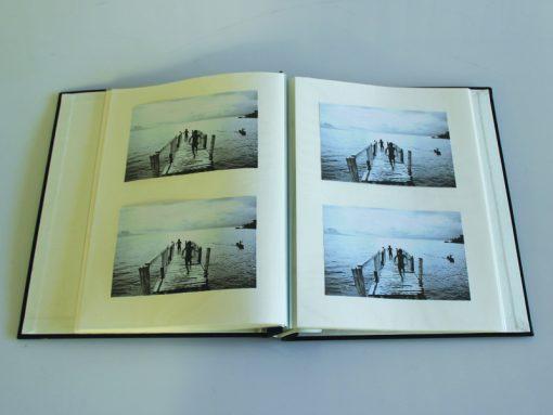 Buckram Scrapbook Album A4 Showing Inside Pages