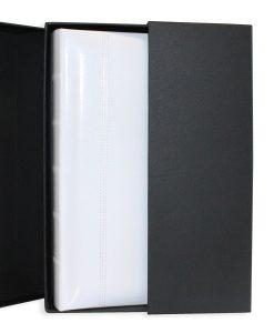300 Album Presentation Box with White Leather Album Inside