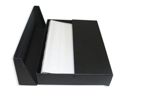 300 Album Presentation Box Lying Flat With White Leather Album Inside