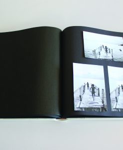 Inside Pages of White Leather Dry Mount Album