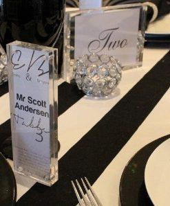 Acrylic Block Table Setting Wedding 300x300