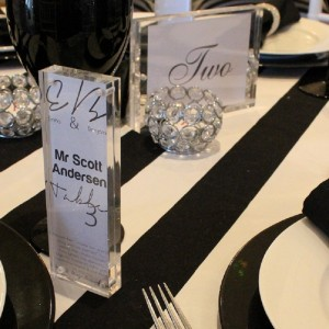 Acrylic Block Table Setting Wedding 300x300