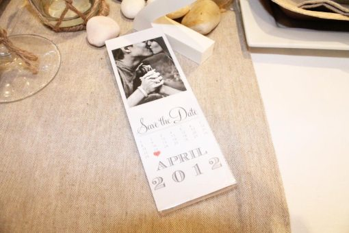 Photostrip 2×6 Inch Magnetic Frame with Save The Date Invitation Inside