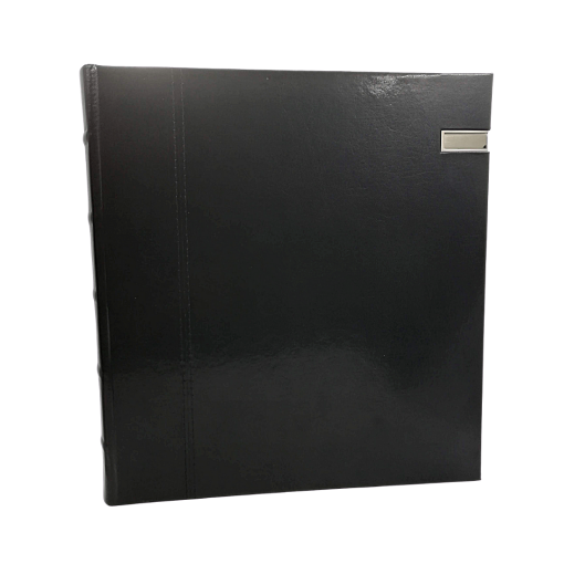 Silver USB Black Leather Dry Mount 50 Page