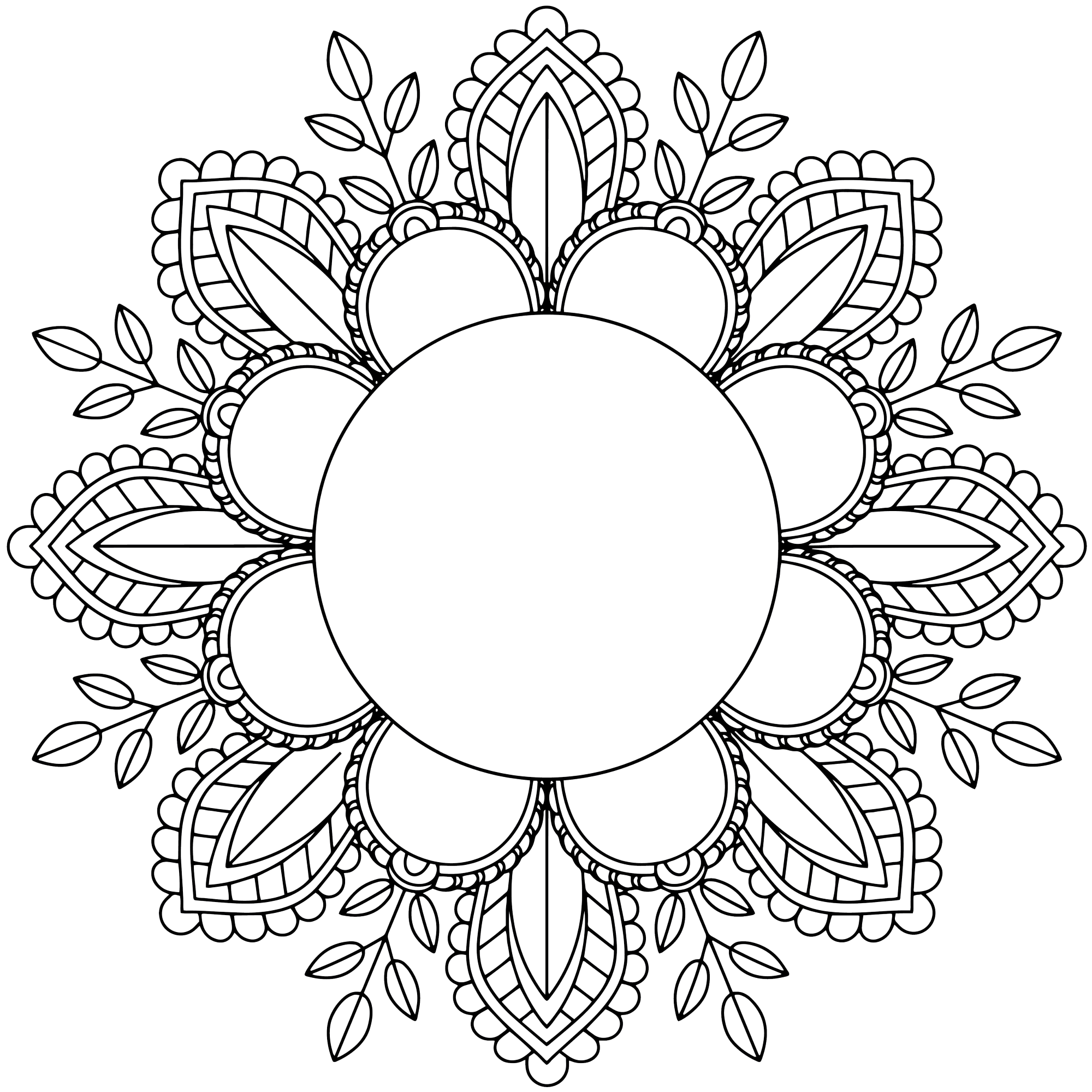 Mandala Colouring Frame
