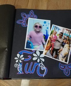 Coral Coast drymount album using Life of Colour paint pens to decorate the page around the photos