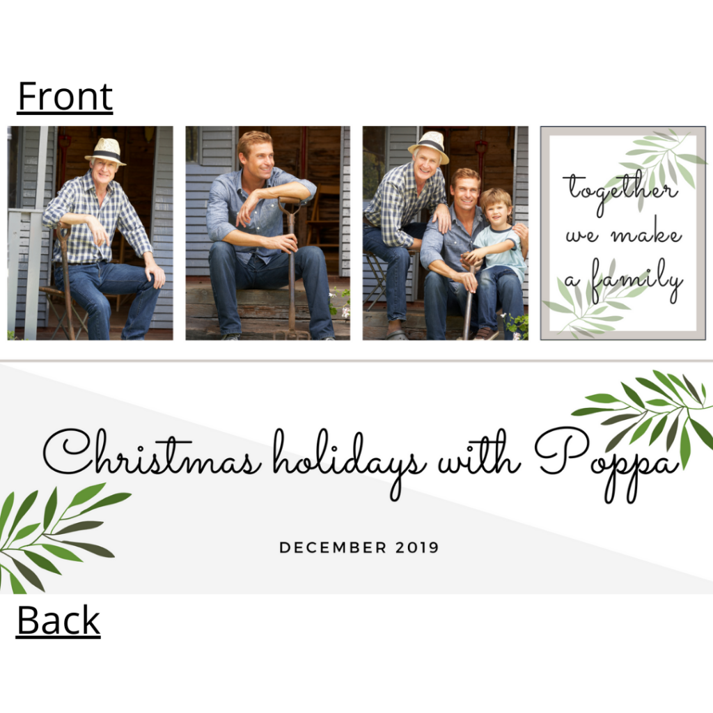 Photo strip template with photos