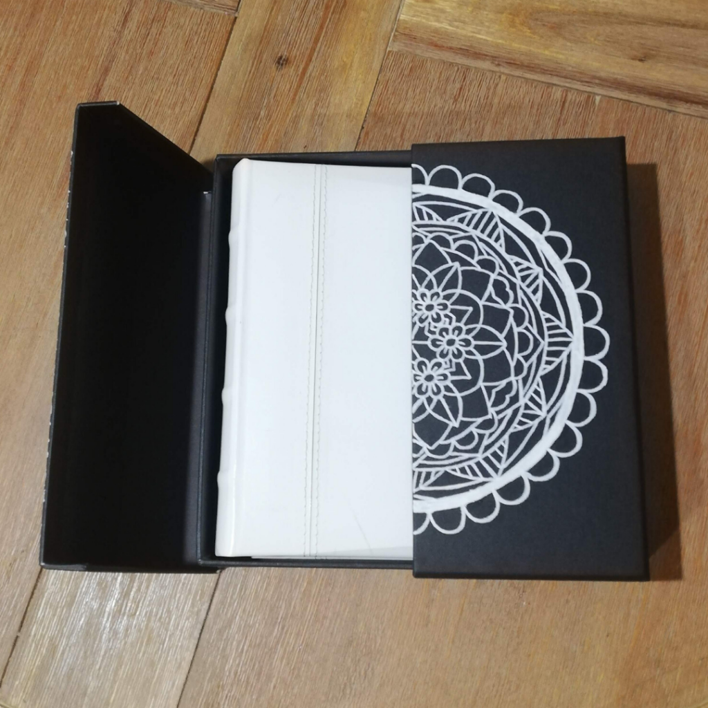 Painted mandala open box