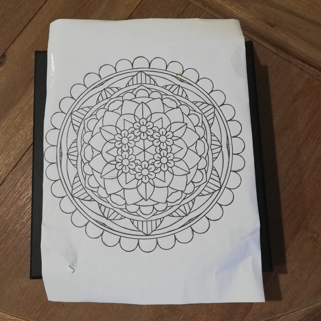 Mandala on transfer paper