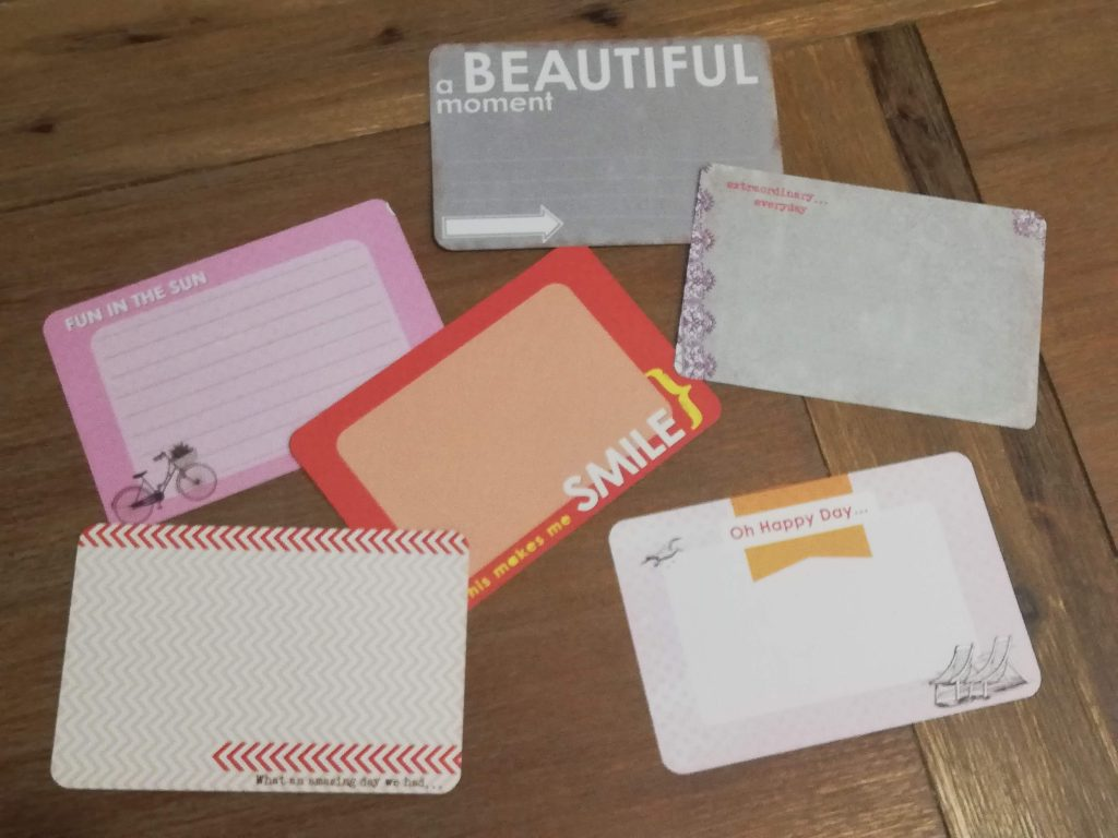 colourful note cards