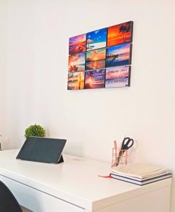 DIY Photo Panels Office Wall Display