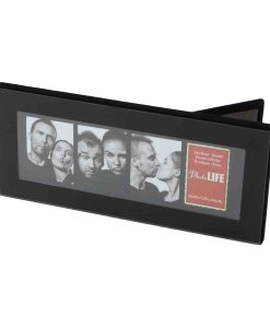 Horizontal View Of Photo Strip Frame Black 2x6