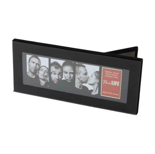 "Horizontal View Of Photo Strip Frame Black 2x6"""