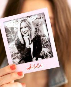 Girl Holding Goldbuch Ohh Lala Fridge Magnet Frame
