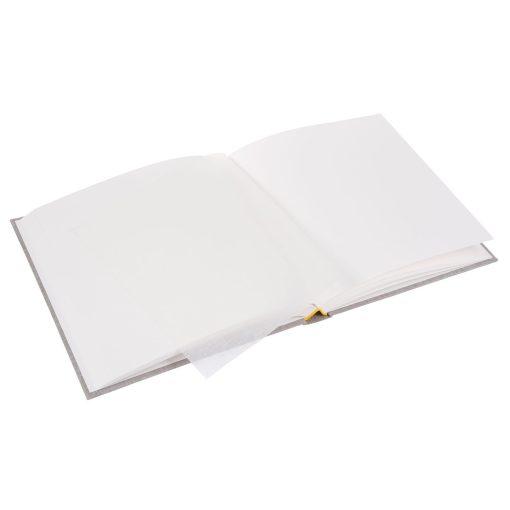 Inside Pages of Goldbuch Linum LightGrey 25x25 Dry Mount Album
