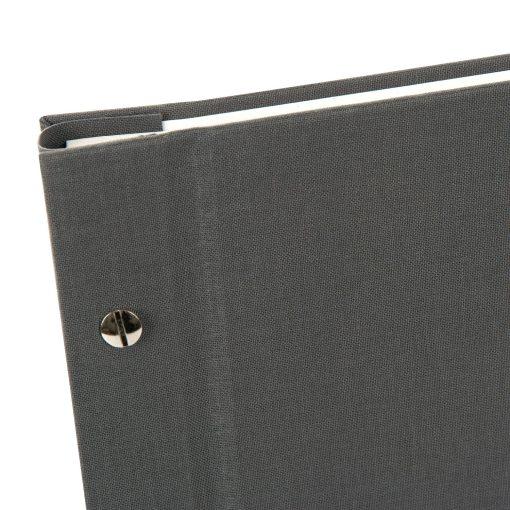 Spine View of Goldbuch BellaVista Grey 30x25 Dry Mount