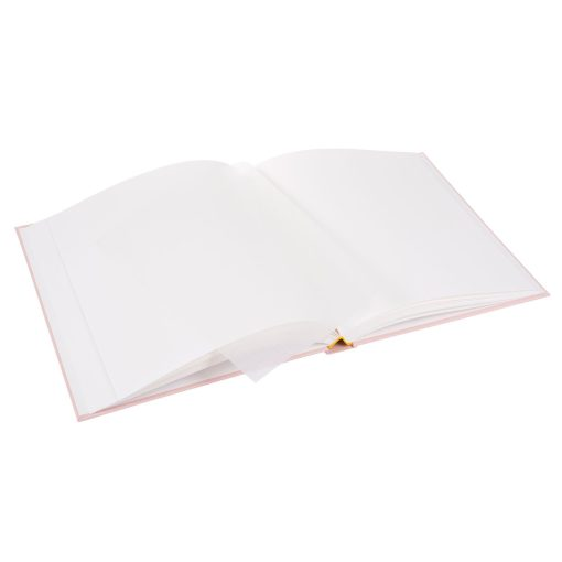 View of Inside Pages of Goldbuch Linum Rose 30x31 Dry Mount Album